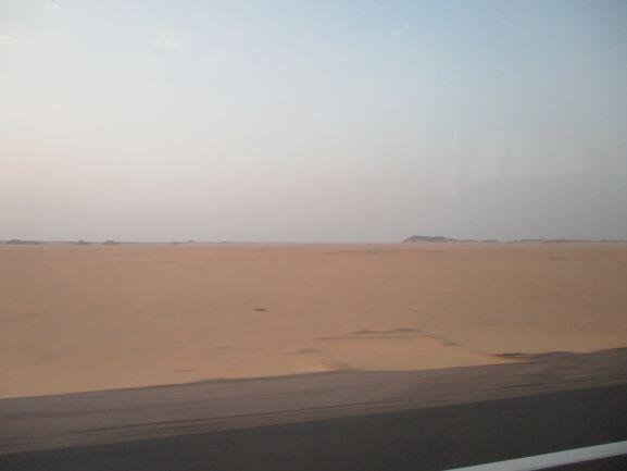 desert drive to Abu Simbel