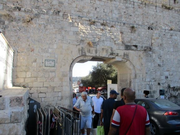 entering via the dung gate