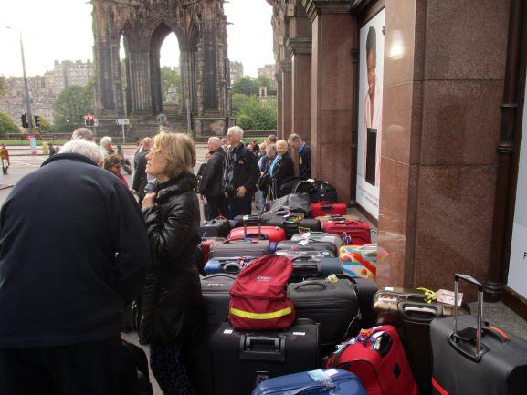 getting ready to leave Edinburgh
