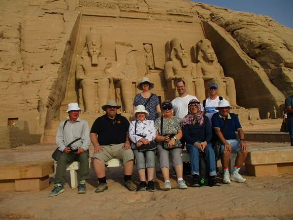 Group at Abu Simbel