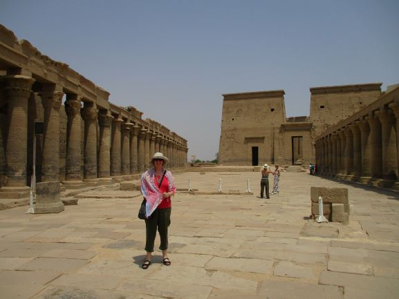 janet at Temple of Isis