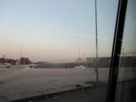 last glimpse of Pyramid in Cairo