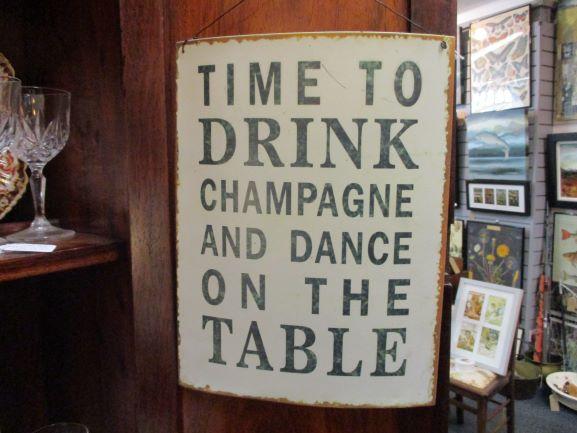 lovely sign in vintage shop