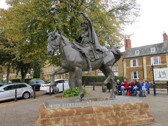 lady on horse banbury