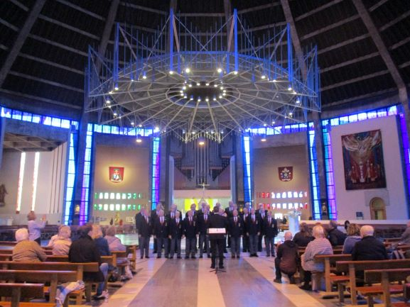 singing at Catholic Cathedral