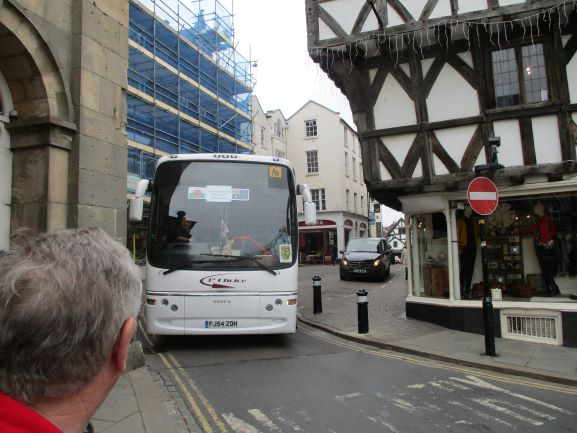 tiny streets big coach